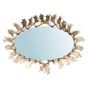 Mirror with real fallow deer antlers. M: 230x150cm 118812
