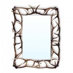 Mirror with real deer antlers. M: 135x100cm 118814