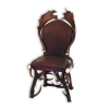 Chair with real deer and fallow deer antlers. M: 60x55cm x H 110cm 114403