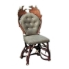 Chair with real deer and fallow deer antlers. M: 60x55cm x H 110cm 114422