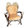 Armchair with real deer and fallow deer antlers. M: 90x80cm x H 120cm 111105