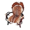 Armchair with real deer and fallow deer antlers. M: 90x80cm x H 120cm 1111051