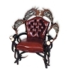 Armchair with real deer and fallow deer antlers. M: 90x80cm x H 120cm 111107