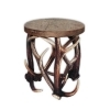 Tabouret bench with real deer antlers. M: 40x40cm x H 45cm 115519