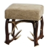 Tabouret bench with real deer antlers. M: 42x42cm x H 45cm 115526