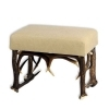 Tabouret bench with real deer antlers. M: 60x42cm x H 45cm 115527