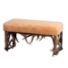 Tabouret bench with real deer antlers. M: 85x42cm x H 45cm 115528