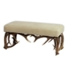 Tabouret bench with real deer antlers. M: 105x42cm x H 45cm 115529