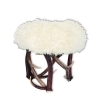 Tabouret bench with real deer antlers. M: 40x40cm x H 45cm 11551801
