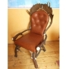Chair with real deer and fallow deer antlers. M: 60x55cm x H 110cm 114405Z