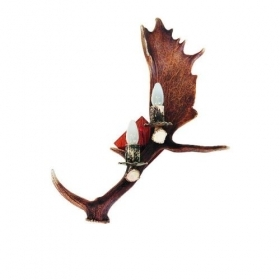 Applique, wall lamp with real deer antlers. 2xE14 60x45cm 1518D03