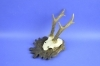 206CA Trophy deer. Hunting. Horns. Chalet. Decoration. Fireplace